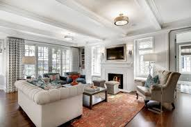 Living Room Recessed Lighting by Traditional Living Room With Hanging Traditional Lighting And
