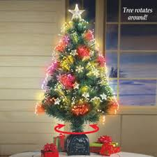 mini rotating tree tabletop artificial ornament