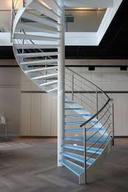 exciting modern spiral staircase with tempered glass stair step