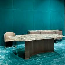 Aqua Table L Contemporary Table Wooden Marble Mr By Dt Design