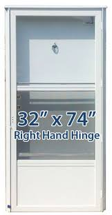 mobile home door with simple measure for the hinge set replacement