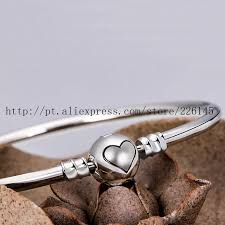 pandora style bracelet clasp images European platinum plated heart clip bangles for women clasp jpg