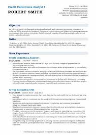 resume template for senior accountant duties ach drafts credit collections analyst resume sles qwikresume