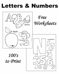 worksheets learning letters and numbers
