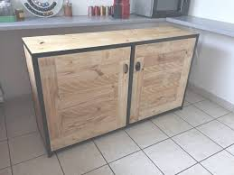 meuble cuisine acier module cuisine buffet acier et bois de palettes meubles et