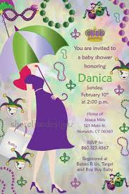 mardi gras babies custom mardi gras modern day baby bump baby shower invitation