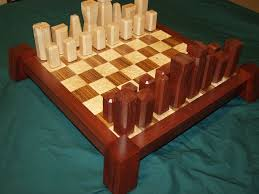 hand made hand crafted chess set by dissident lumber works