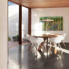 timber ceiling dining room contemporary with pendant light