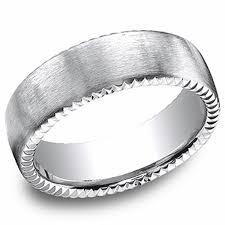 mens wedding rings white gold benchmark 14kt white gold 7 5mm mens wedding ring