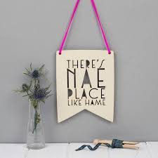 scottish phrase wall art new home gift by we are scamp