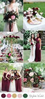 Wedding Colors The Stunning Colors Of White Burgundy Wedding | wedding trends 10 fantastic burgundy color combos for 2017 pink