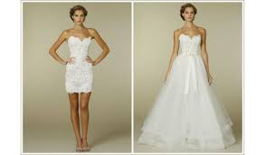 two wedding dresses two in one wedding dress of the