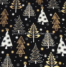 gold christmas tree 105 50cm 1pc christmas fabric cotton fabric christmas patchwork gold
