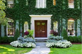 garden design front of house with beautiful flower home decor