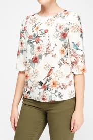 printed blouse silky printed blouse just 5
