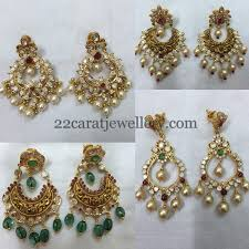 pachi earrings nakshi work pachi chandbalis jewellery designs