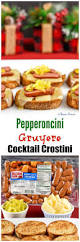 pepperoncini gruyere cocktail crostini recipe easy party