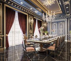luxury dining room royalty in the darkness again after blackum first rococo style in