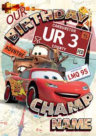 disney cards disney pixar cars funky pigeon
