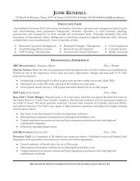 Private Chef Resume Culinary Resume Templates Sample Resume Skills Summary