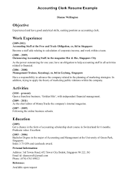 Resume Samples For Accountant Sample Resume Accounting Clerk