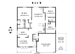 3 bedroom house plans one story 3 bedroom single story house plans