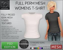 second life marketplace td templates womens mesh t shirt