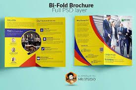 two fold brochure template psd corporate bi fold brochure brochure templates creative market