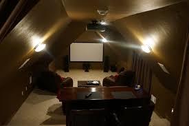 Houzz Media Room - attic theater room traditional home theater oklahoma city
