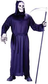 Halloween Reaper Costume Mens Grim Reaper Robe Fancy Dress Costume Fancy Limited