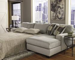 furniture beige queen sleeper sofa with wooden frame and cushions