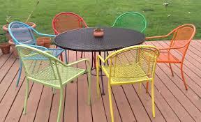 vintage metal patio table my journey