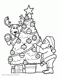 christmas color pages kids coloring