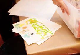 kid craft bubble art cards cool progeny