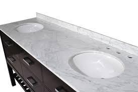 73 inch double sink bathroom vanity espresso finish carrara white