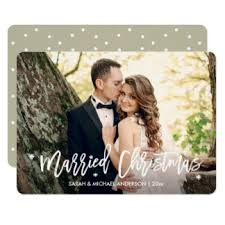 just married cards invitations greeting u0026 photo cards zazzle