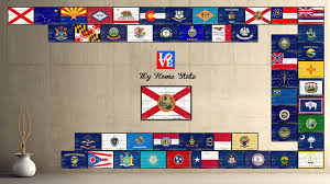 Florida Flag History Florida State Home Decor Man Cave Wall Art Collectible Decoration