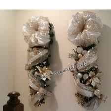 lighted swag set garland wreath