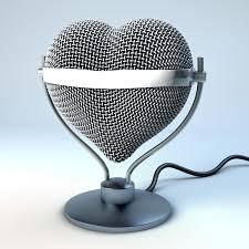 microphone de bureau microphone de bureau de studio dans la forme de coeur illustration