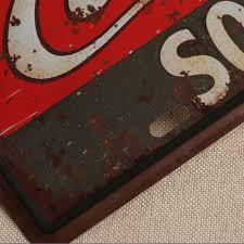 placa coca cola home decor vintage metal tamanho unico w