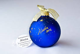 alaska flag christmas ornament handpainted big dipper stars