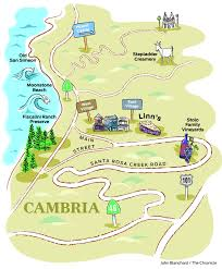 Cambria Ca Map Map Of Cambria Ca M Snow Forecast Map Old Rag Hike Map