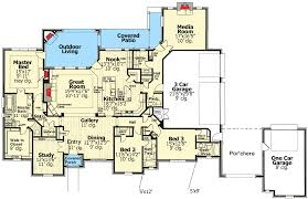 Monsterhouseplans French Country Style House Plans 4000 Square Foot Home 1 Story