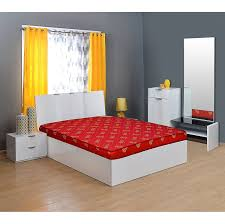 Nilkamal Bedroom Furniture Nilkamal Sparkle 4 Inch Single Size Foam Mattress Maroon 72x48x4
