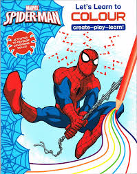 spiderfan org comics spider man u0027s learn colour