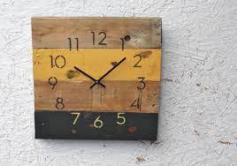 reclaimed pallet wood wall clock modern numbers pittsburgh