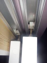 bypass closet door track system home design ideas