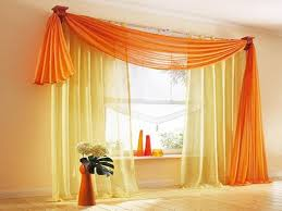 Contemporary Orange Curtains Designs Didn T Asymmetrical Curtains Could Look Might Try This