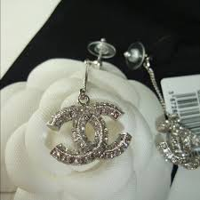 cc earrings chanel sold on tradesy chanel classic cc dangle earrings from