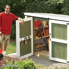 outdoor storage locker family handyman